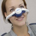 Patientin mit Singlemaskensystem